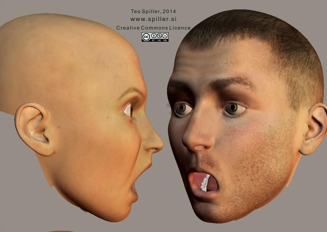 Surprised face shape (profile)