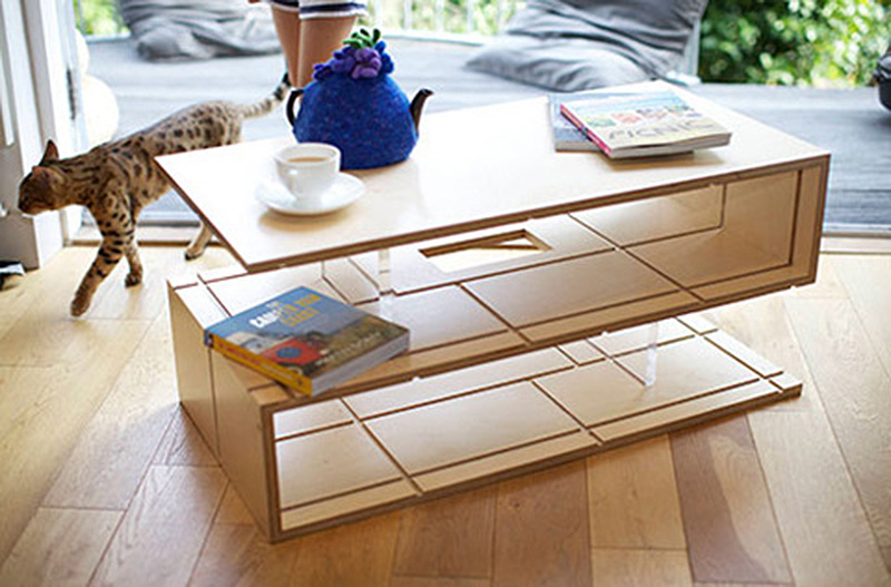 The Qubis Haus Coffee Table, C Shape And S  Shape Side Tables And Chair Are  Made In Solid Birch Ply Wood And Have Clean Modern Lines Making Them  Beautiful ...