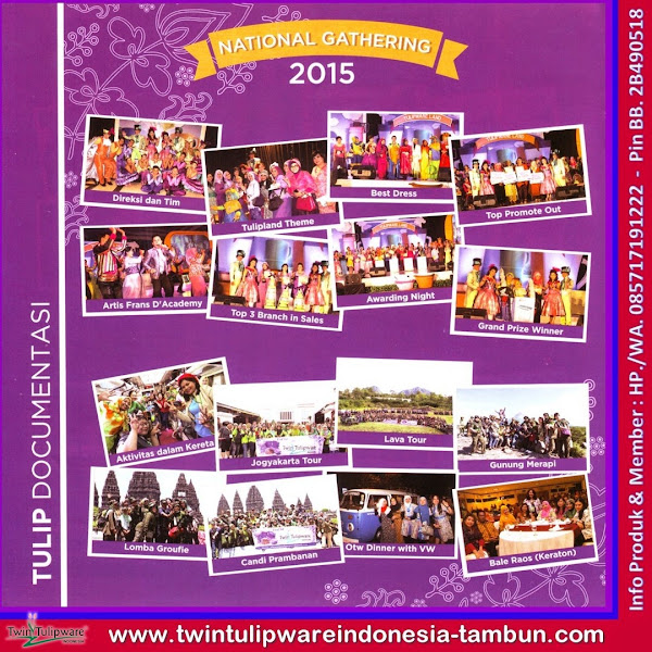 Natinal Gathering Tulipware 2015