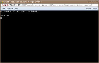 Console VNC OpenVZ Proxmox