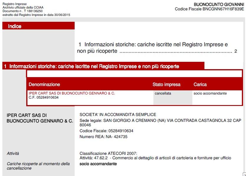 Dossier Samb  Buonocunto sconosciuti al registro imprese (E intanto ... b1eba0ef14bb