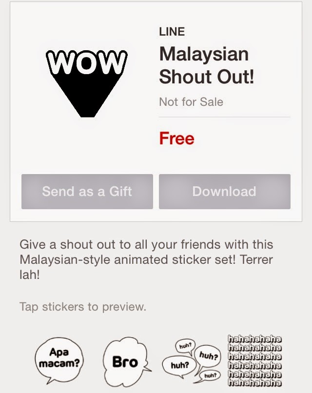 Malaysian Shout Out! sticker