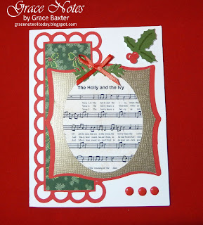 Holly and the Ivy Christmas card, designed by Grace Baxter
