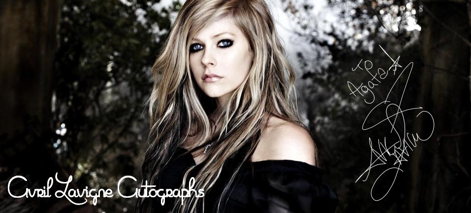 Avril Lavigne autographs