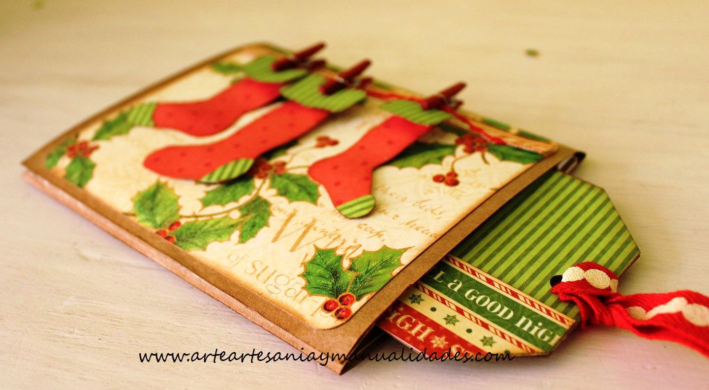 Como hacer tarjetas de navidad scrapbook niza regalos de - Como hacer tarjetas navidenas originales ...
