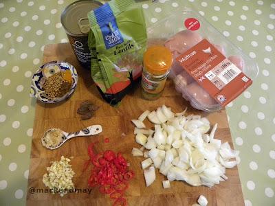ingredients for chicken dhansak