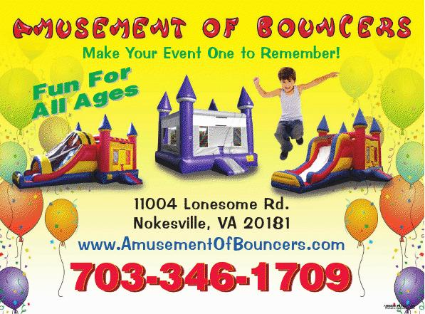 Northern Virginia Moonbounce Rentals, Bounce House rentals, Manassas, Gainesville, VA Haymarket, VA