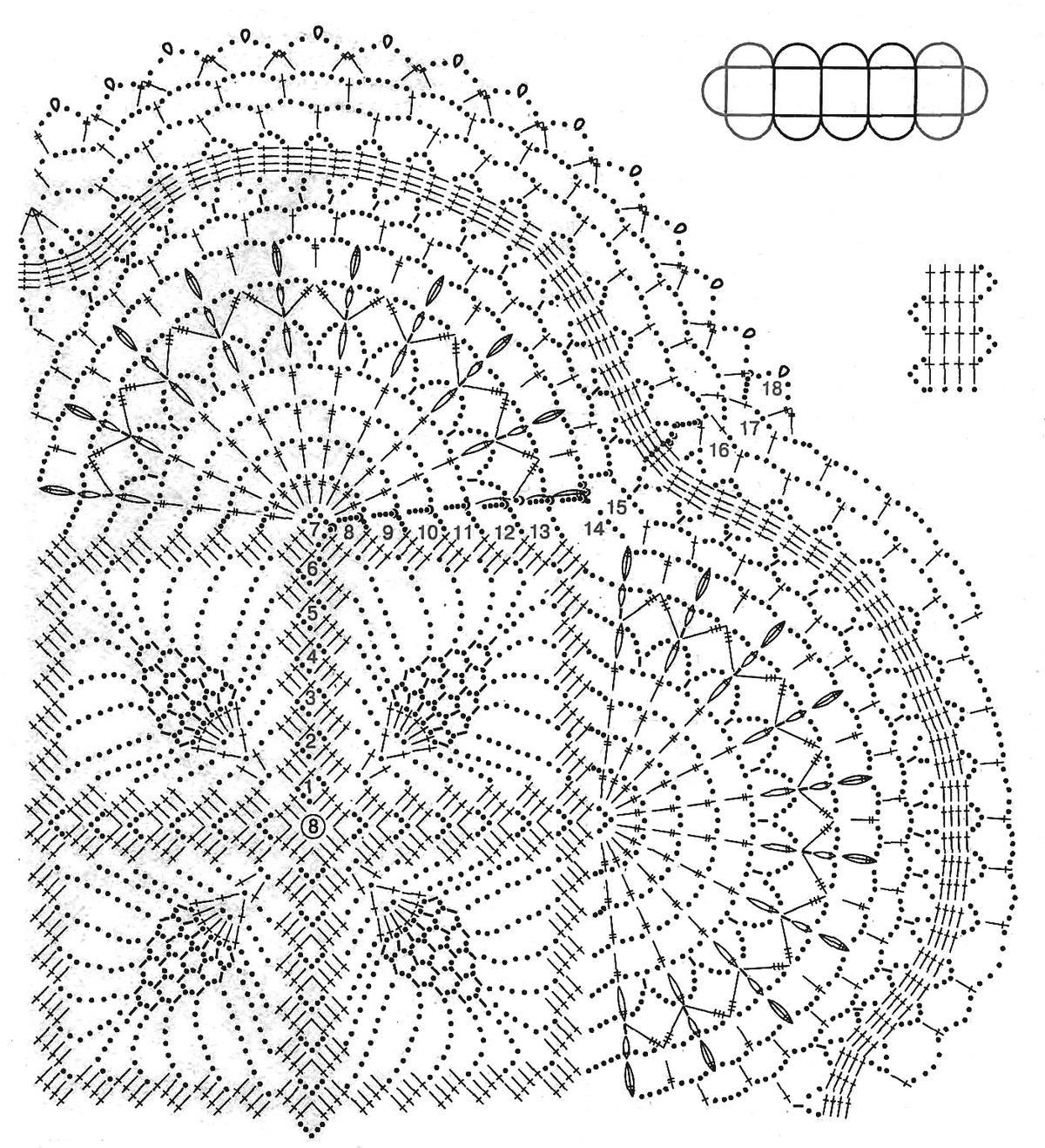 Шарф ажурный крючком схема 12 фотография