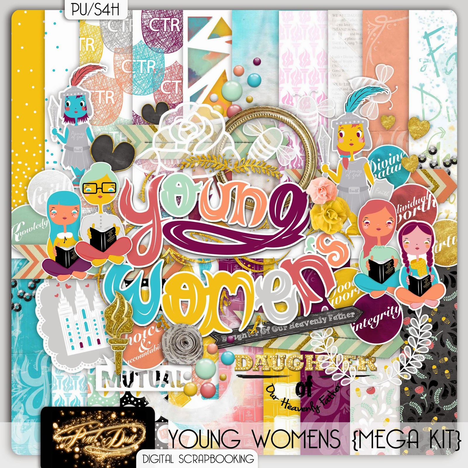 Scrapbook ideas download free - Its Been A Long Time Coming For This Young Women S Kit I Originally Got The Idea To Do This Kit Over A Year Ago And Just Recently I Finally Got To Work