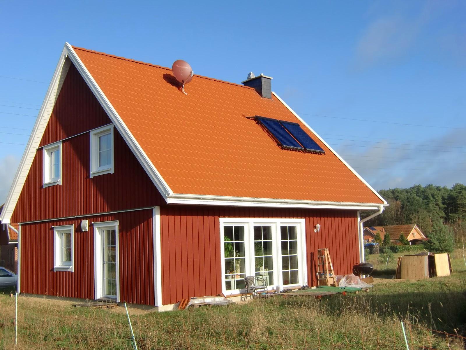 schwedenhaus in eickeloh unser haus von aussen. Black Bedroom Furniture Sets. Home Design Ideas