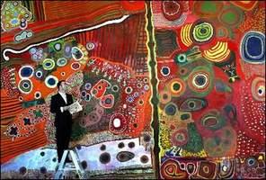 豪州原住民 (アブオリジナル) の伝統的絵画