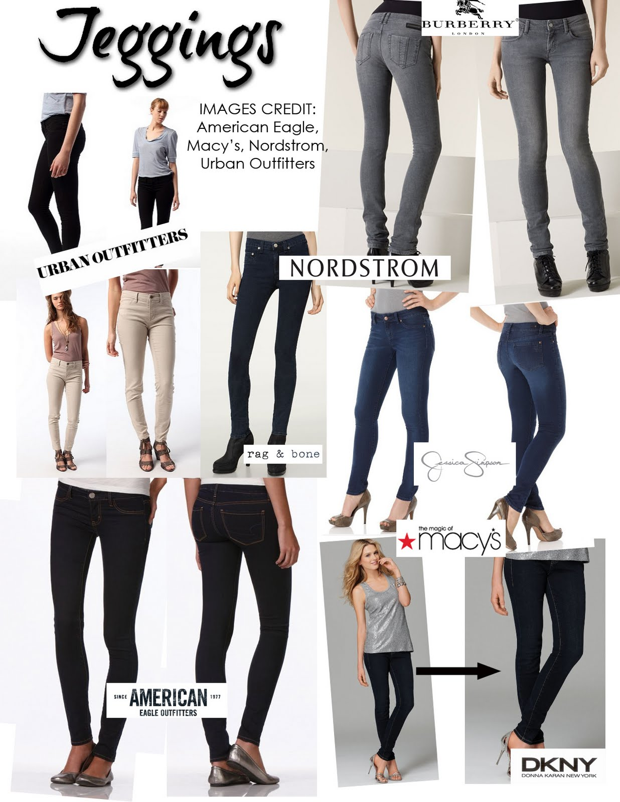difference between jeggings and skinny jeans