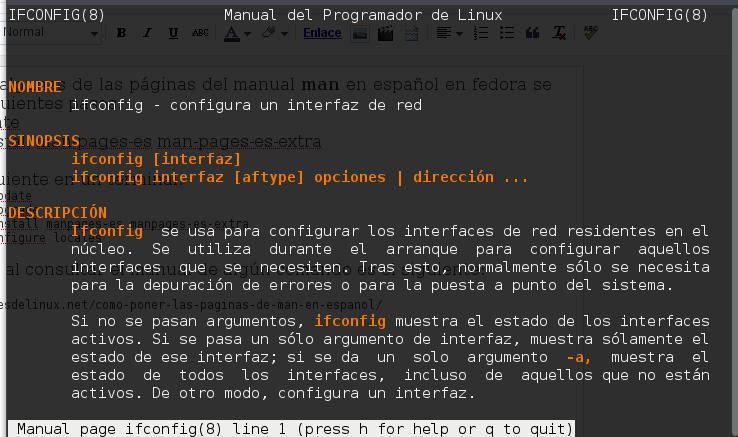 Poner las páginas de man de la terminal a español en fedora y ubuntu