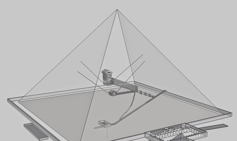 3d model of the Pyramid of Khufu (Cheops) internal structure