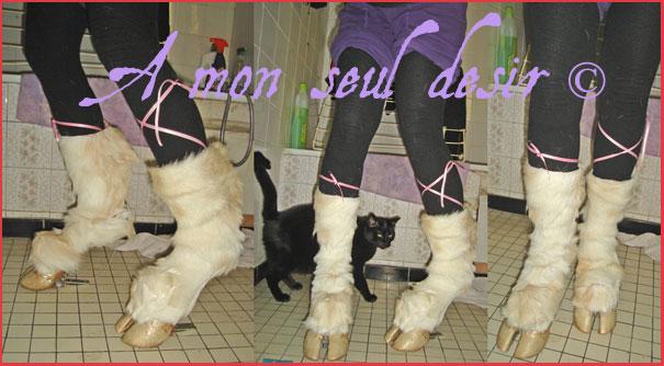 chaussures sabots de vache bottes pattes de chèvres hoof boots