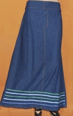 Rok Jeans Labuh Casual Rm303