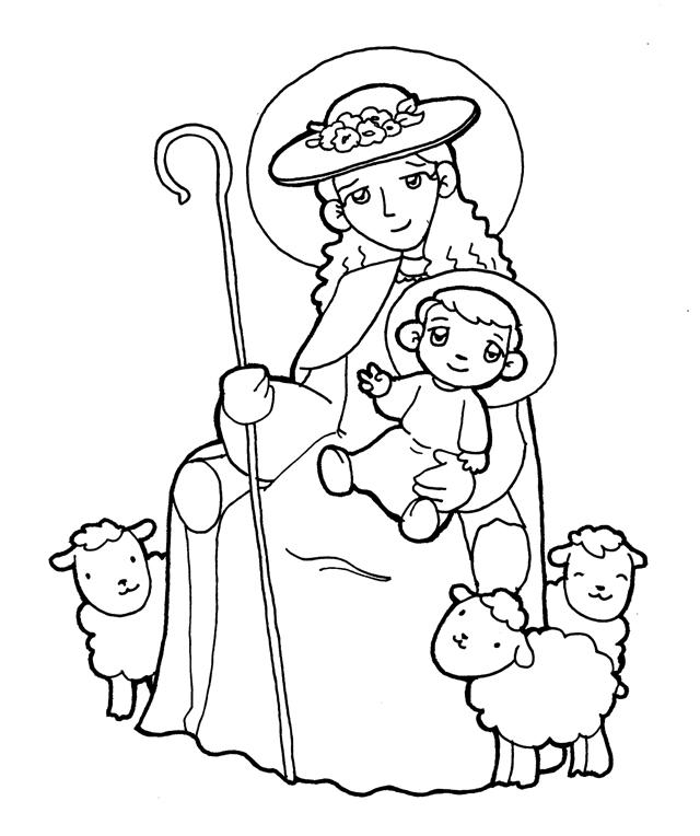 Dibujos para catequesis: MADRE DEL BUEN PASTOR, DIVINA PASTORA