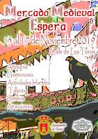 MERCADO MEDIEVAL 2019 ESPERA (CÁDIZ) del 15 al 17 de noviembre 2019