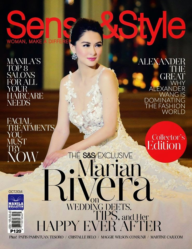 Marian Rivera on Sense and Style cover,   October 2014 issue