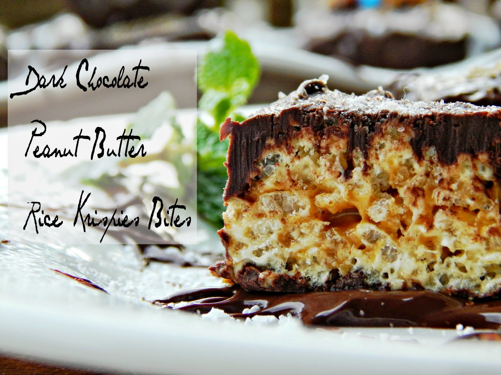 Dark Chocolate Peanut Butter Rice Krispies Treat® Bites  #kreatemyhappy #ad