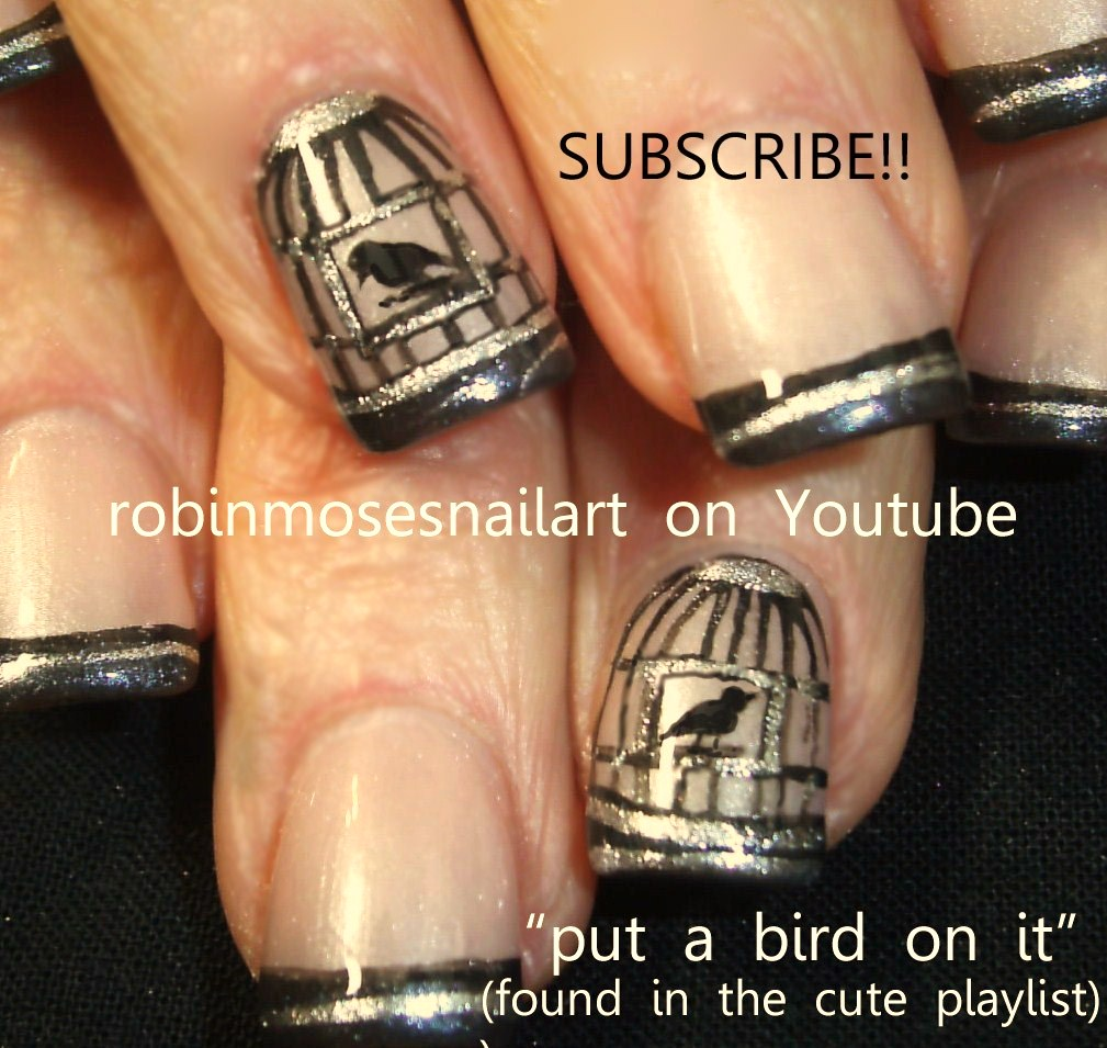 Portlandia portlandia nail art birdcage nail blue bird in my heart