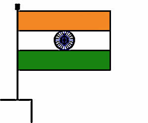 simple graphic of Indian flag