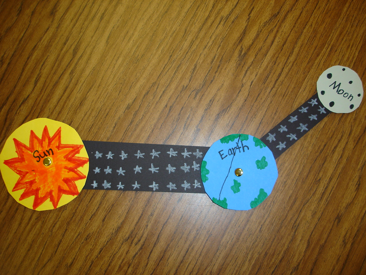 earth moon and sun projects