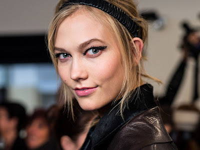 Karlie Kloss in Leather Jacket