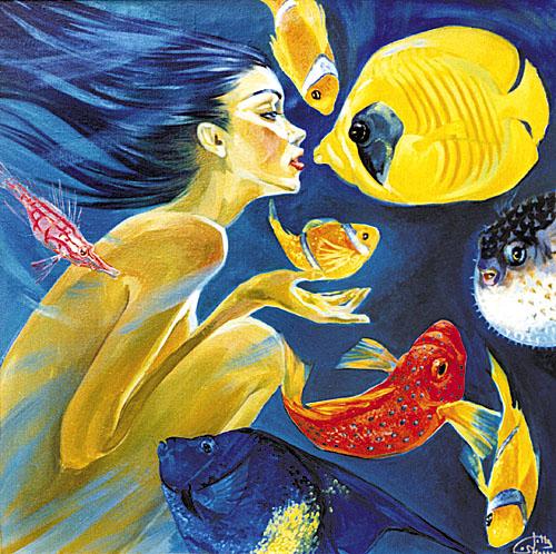 Fattah Hallah Abdel 1970 | Symbolist painter | Touching Egypt