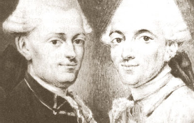 Engraving of the Montgolfier Brothers