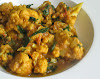 Gently Simmered Cauliflower in a Spicy Tomato Sauce