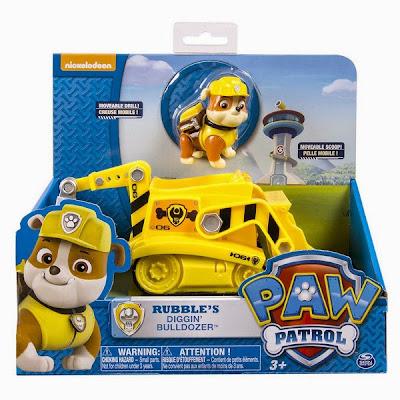 JUGUETES - Paw Patrol | La Patrulla Canina  La excavadora de Rubbler | Vehículo + Figura  Rubble's Digg'n Bulldozer  Toys | Producto Oficial Serie Televisión Nickelodeon | A partir de 3 años