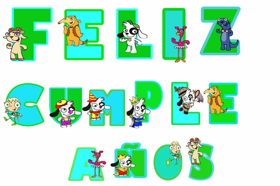 Letras de cumplea os para imprimir dibujos para ni os - Literas divertidas para ninos ...