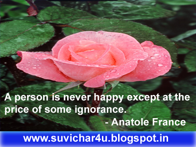 A person is never happy