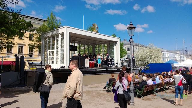 Espan Lava stage in Esplanadi Park