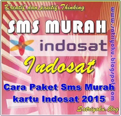 Cara Paket Sms Murah kartu Indosat