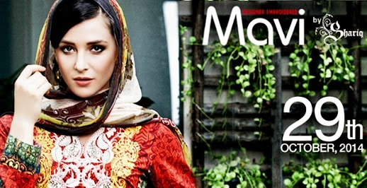 Mavi Designer Embroidered Collection 2014 By Shariq