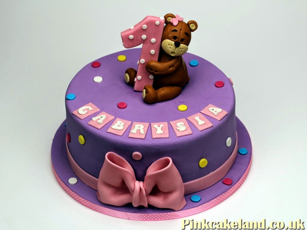 1st Birthday Cake for Girl in Bromley