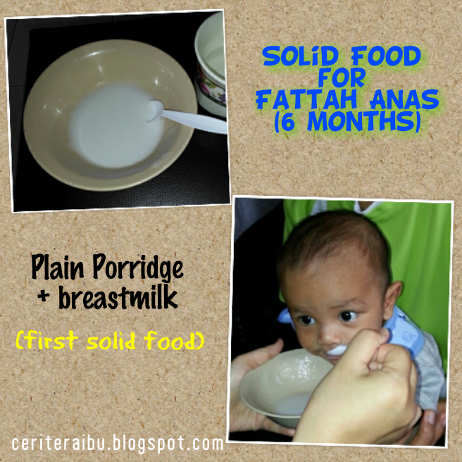 Solid Food for Fattah Anas (6 months old)