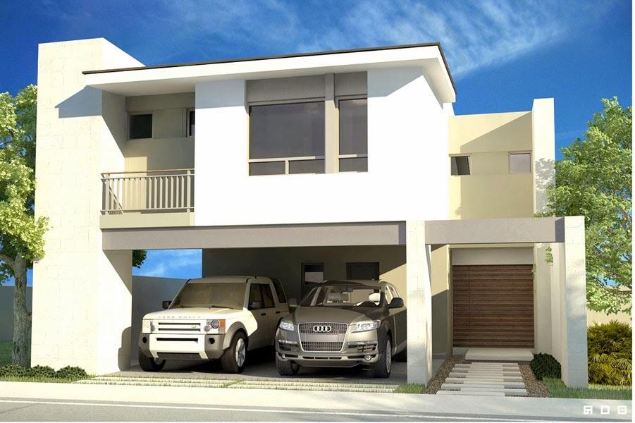 Fachadas contempor neas casas contempor neas de modernas for Fachadas de casas con porton