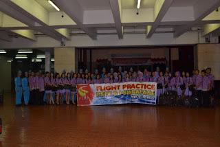 sesi foto terakhir setelah kedatangan di bandara Soekarno Hatta terminal 2E dan praktek terbang PSPP Penerbangan Yogyakarta batch 6 sukses