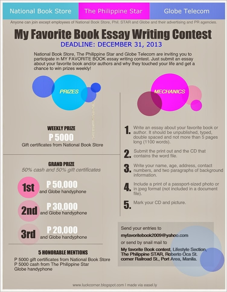 write essay contest The essay contest asks high school students in the 10th through 12th grade to write about the book in an essay of 700 to 1500 words bp community scholarship program deadline is in mid may.
