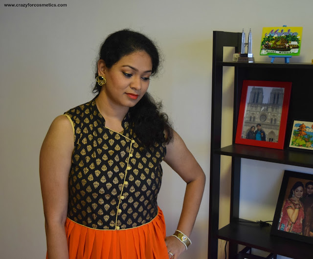 Indo western look with Jabong Kurti