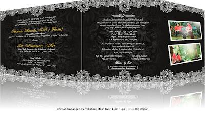 undangan pernikahan dengan nuansa hitam swirl update undangan