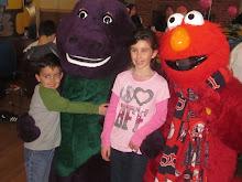 Purple Dino or Elmo!