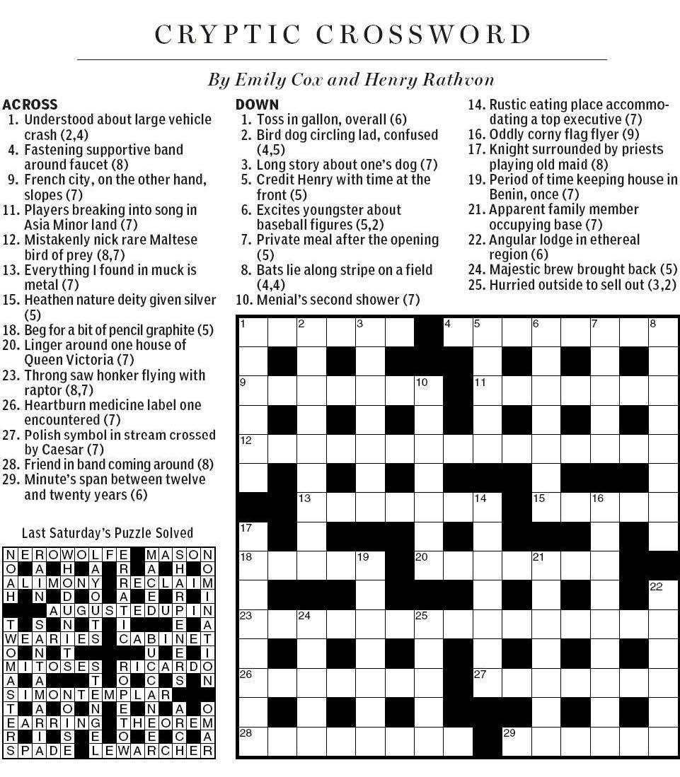 Bird Of Prey  Letters Crossword Clue