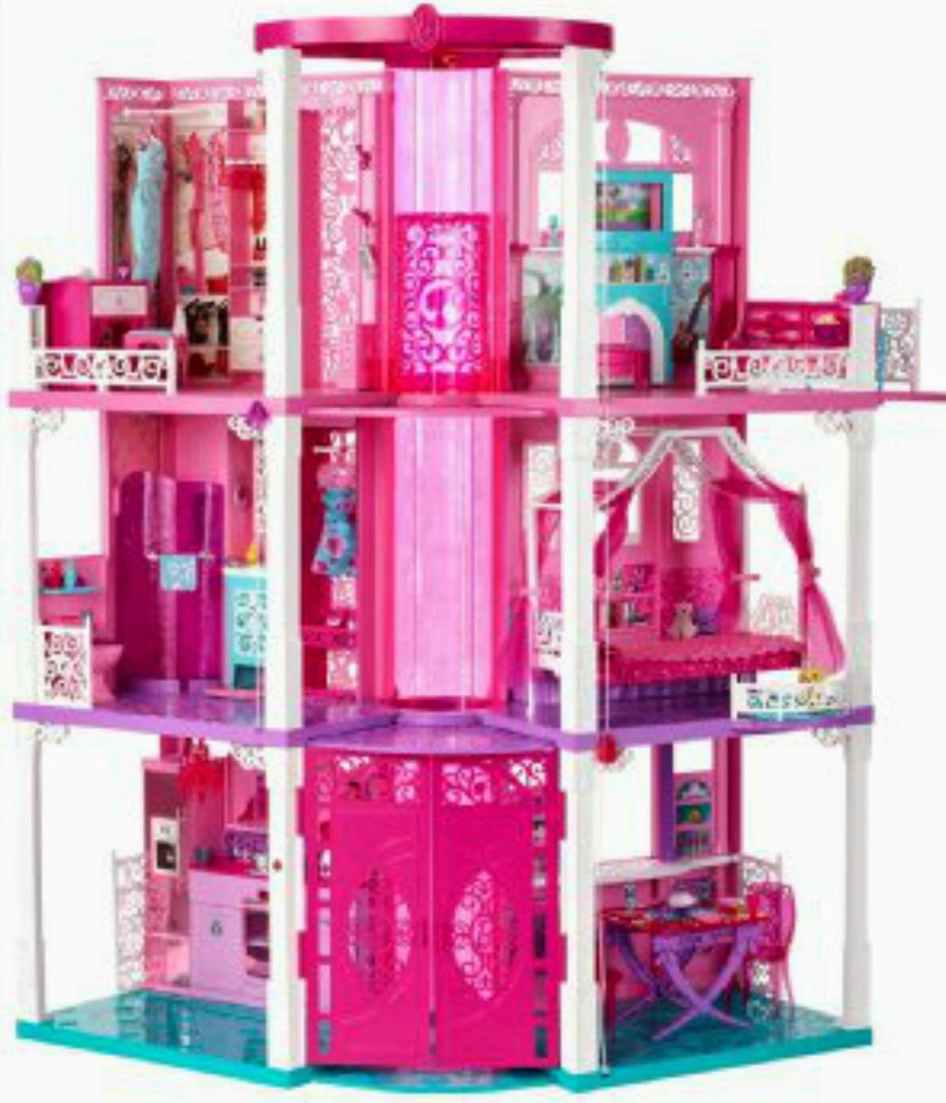 Barbie dreamhouse life barbie dream house life doll for Kitchen set for 9 year old