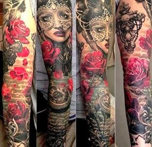 Desenhos de tatuagens femininas no braço