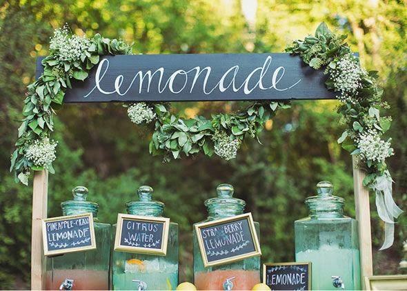 vintage style lemonade stand