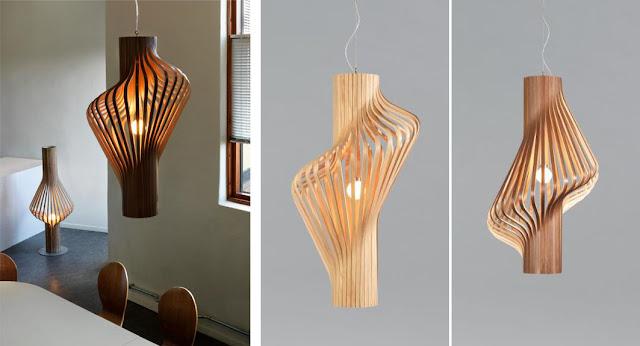 L mparas de madera espacios en madera for Lamparas de mesa de madera